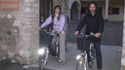 Sindaco e Vicesindaco in bicicletta