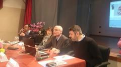 Il tavolo dei relatori al convegno sull'albergo diffuso