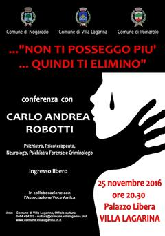 Venerdì 25 novembre Conferenza a Villa