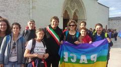 La partecipazione istituzionale alla Marcia per la Pace, al centro il consigliere Cont