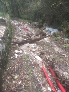 Erosione sulla strada del Molin del Vide, Castellano