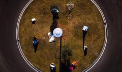 La rotonda vista dal drone